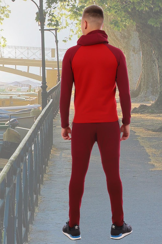 Бордовый спортивный костюм прилегающего силуэта Berchelli
