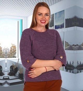Фиолетовый женский свитер