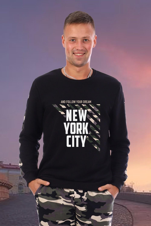 Теплая толстовка с начесом NEW YORK CITY
