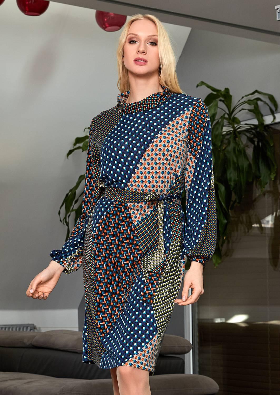 Платье с поясом TopDesign B9 088