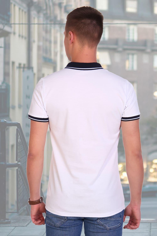 Белая футболка поло Berchelli