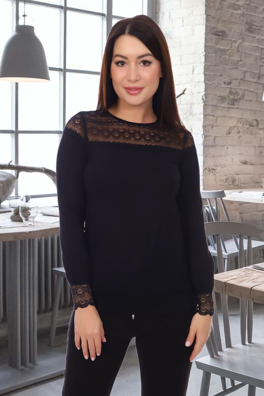 черная блузка с кружевом
