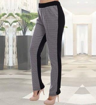 Двухцветные брюки женские