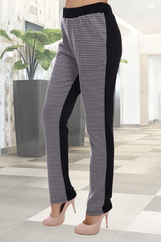 двухцветные женские брюки