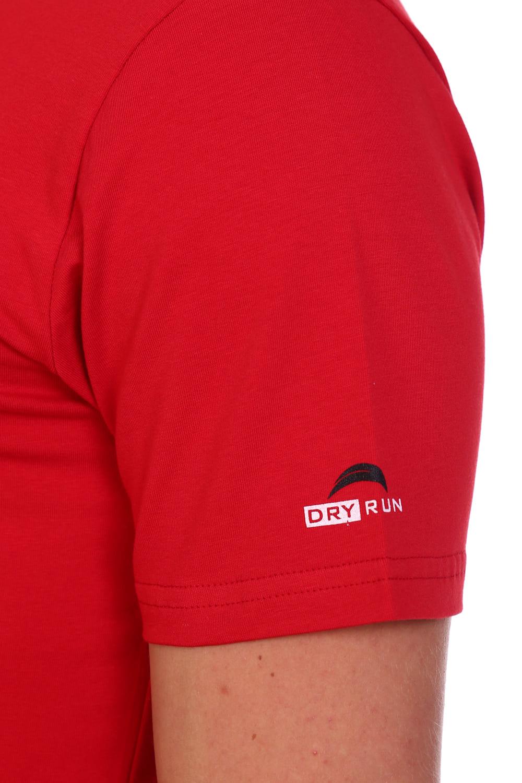 Красная мужская футболка с принтом Berchelli