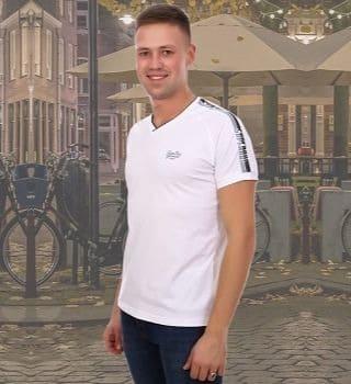 Белая стильная футболка мужская Berchelli