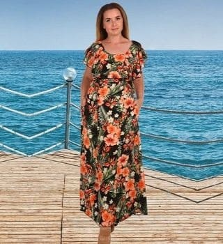 Длинное летние платье Natali