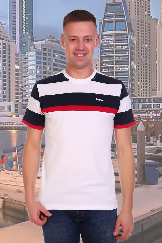 мужская футболка с кратким и рукавами