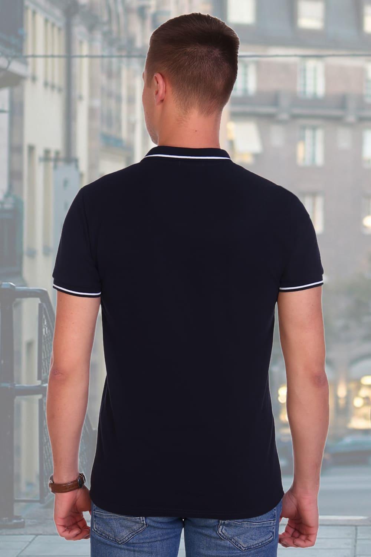 Темно-синяя мужская футболка поло Berchelli