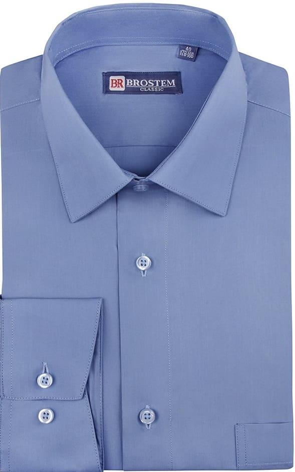 голубая мужская рубашка дешево