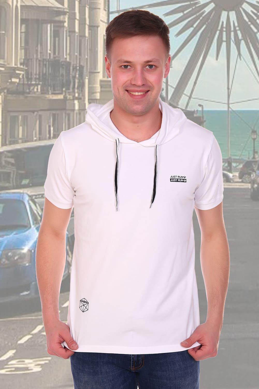 белая футболка с капюшоном