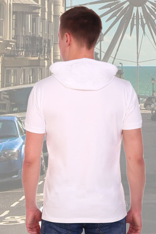 Белая футболка с капюшоном Berchelli