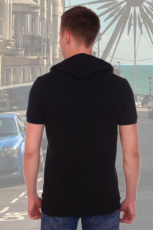 Черная футболка с капюшоном Berchelli 16002