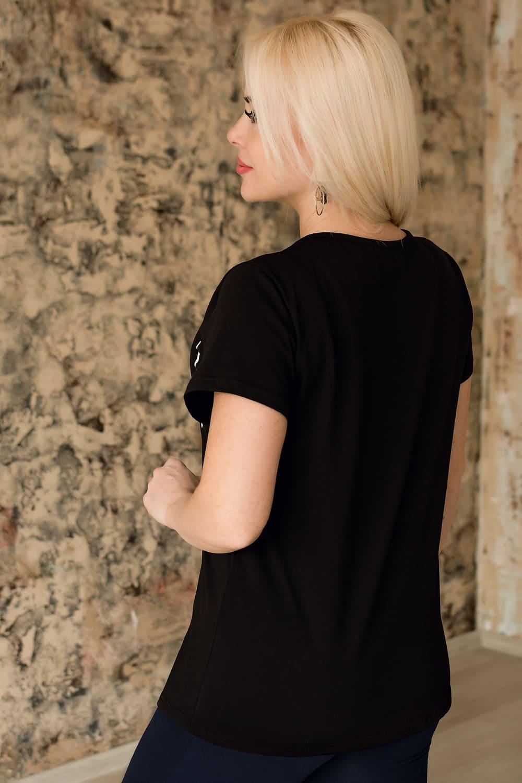Черная модная футболка Natali