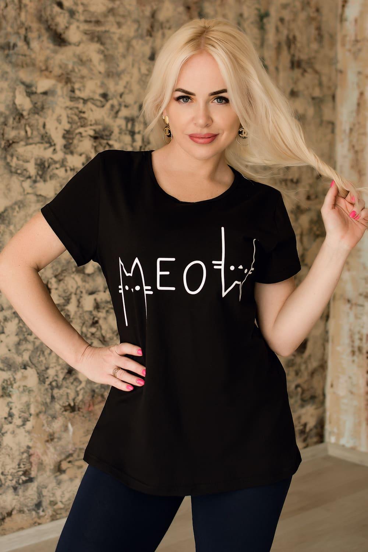 черная модная футболка