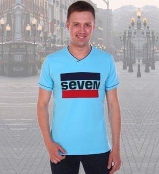 Мужская футболка с надписью Seven