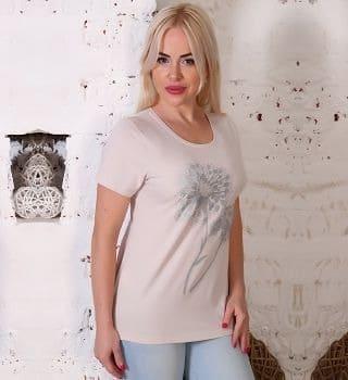 Бежевая женская футболка