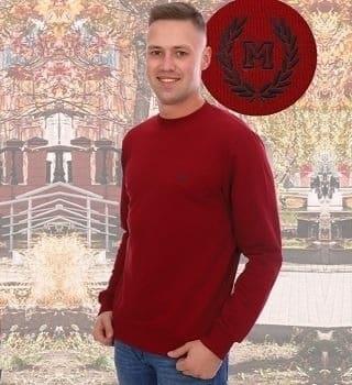 Бордовый джемпер мужской Berchelli