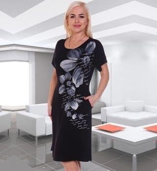 Черное недорогое платье