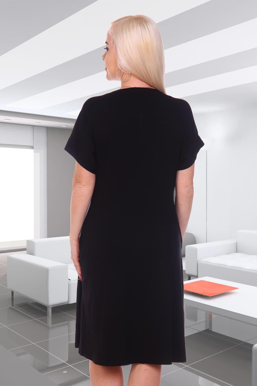 Черное недорогое платье 7090