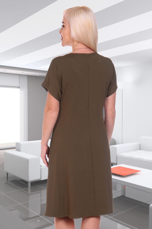Недорогое платье с принтом