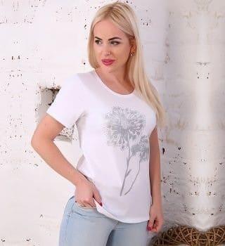 Нежная футболка женская