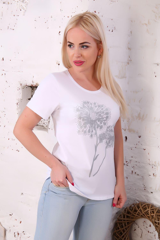 нежная женская футболка