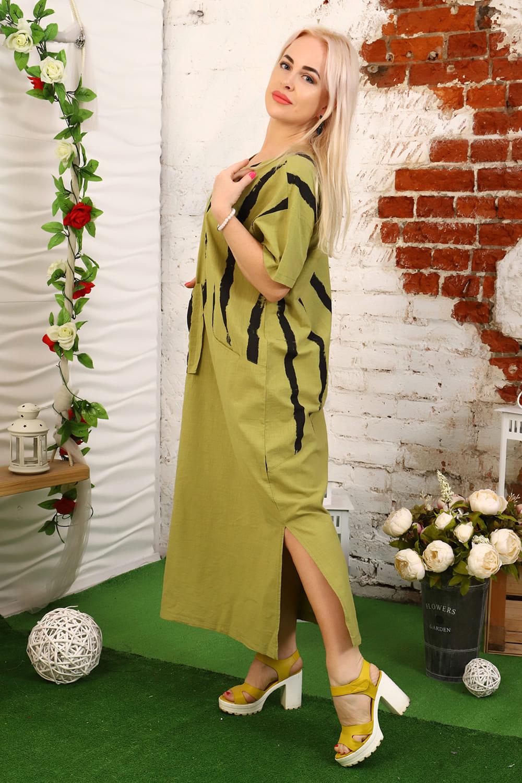 Фисташковое летние платье Natali
