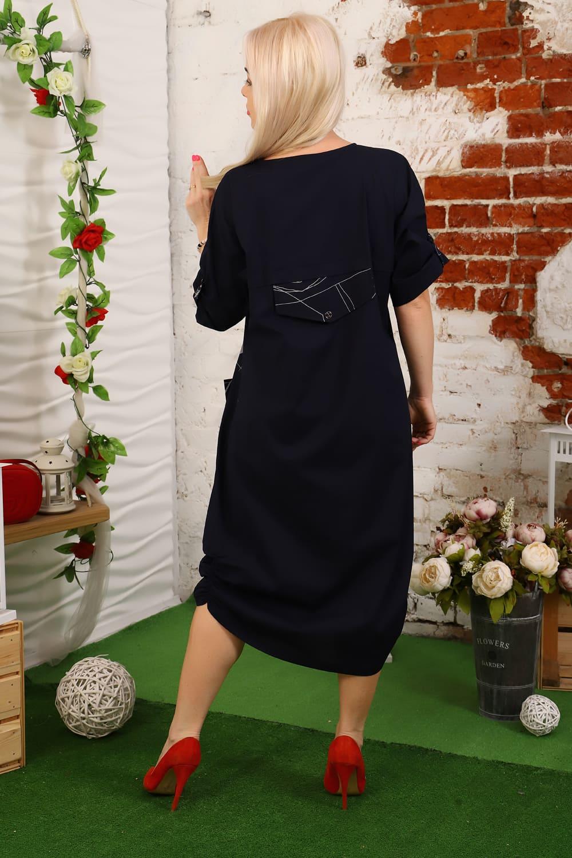 Темно синие летние платье Natali