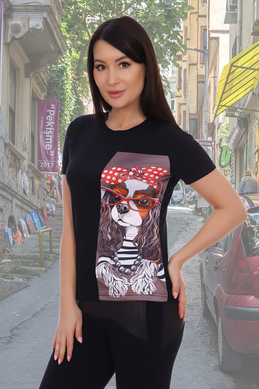 черная футболка спринтом женская