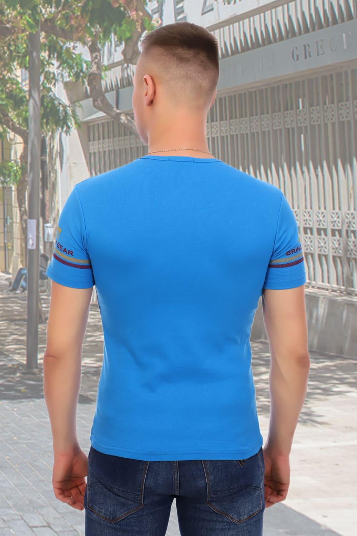 Голубая футболка Berchelli 5921