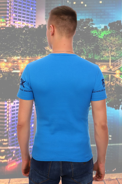 Голубая футболка мужская 5923