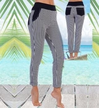 Летние брюки в полоску