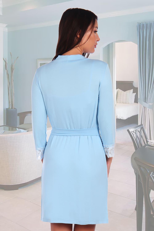 Небесно-голубой халат Natali