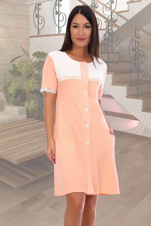 персиковый женский халат