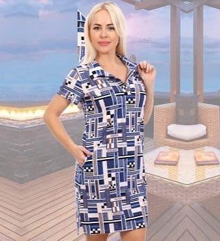 Хлопковое платье на пикник Natali 6713