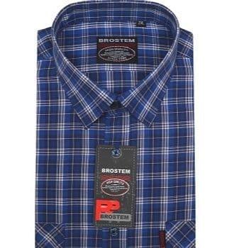 Рубашка мужская клетка Brostem SH672-1