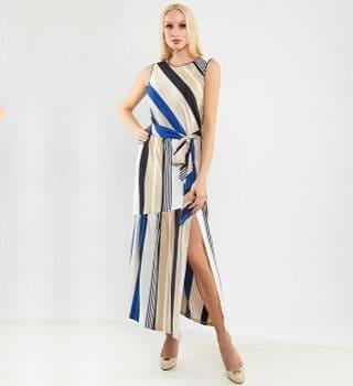 Стильное хлопковое платье Top Design А9 151