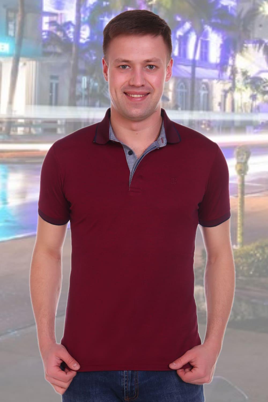 мужская бордовая рубашка поло