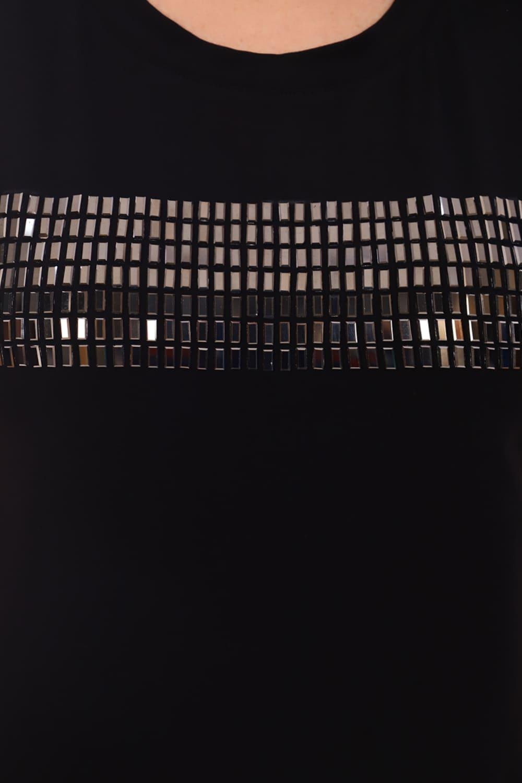 футболка с металлизированными стразами