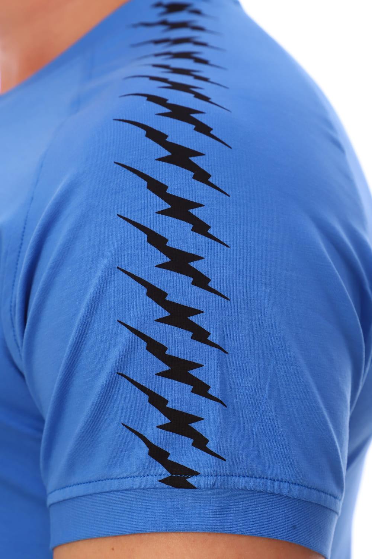 Голубая футболка с v образным вырезом Berchelli