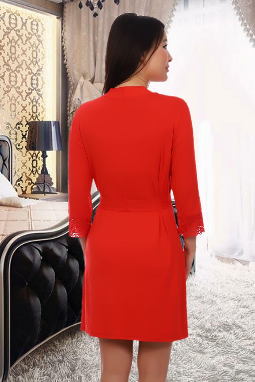 Красный халат из вискозы