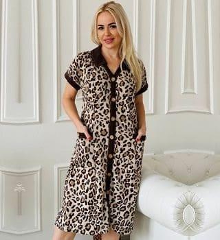 леопардовый халат