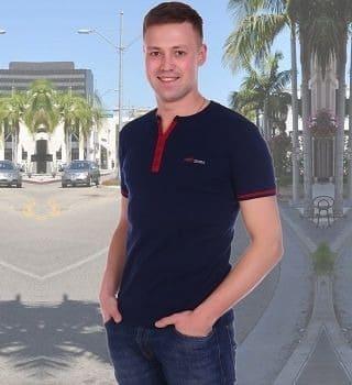 темно синяя футболка мужская