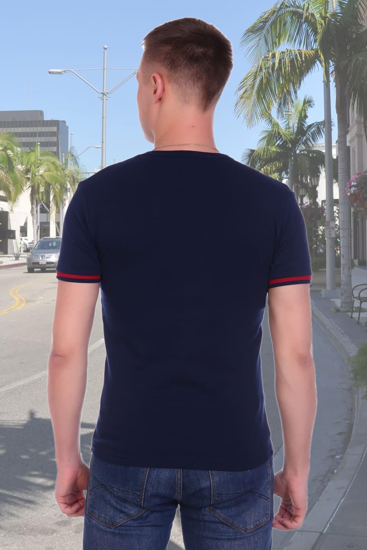 Темно синяя футболка мужская Berchelli