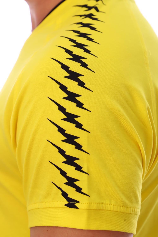 Желтая футболка с v образным вырезом Berchelli