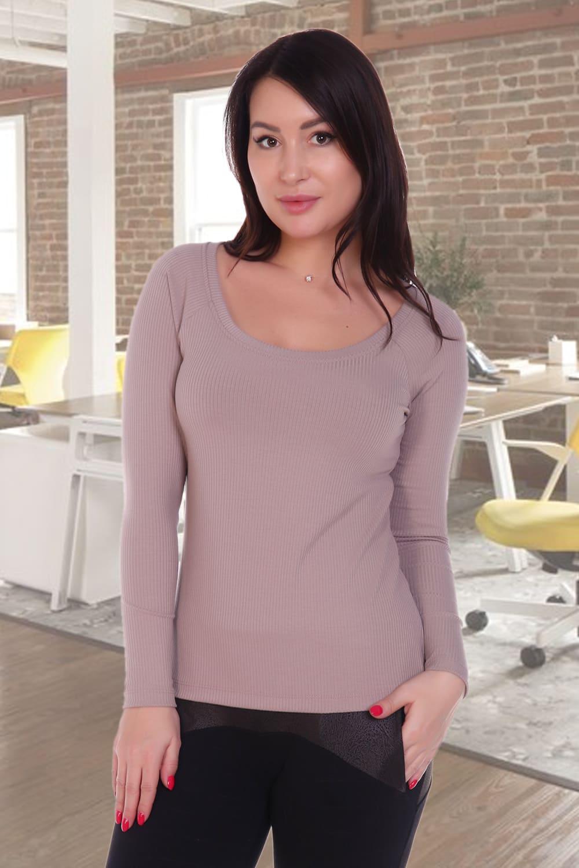 женская блузка в рубчик