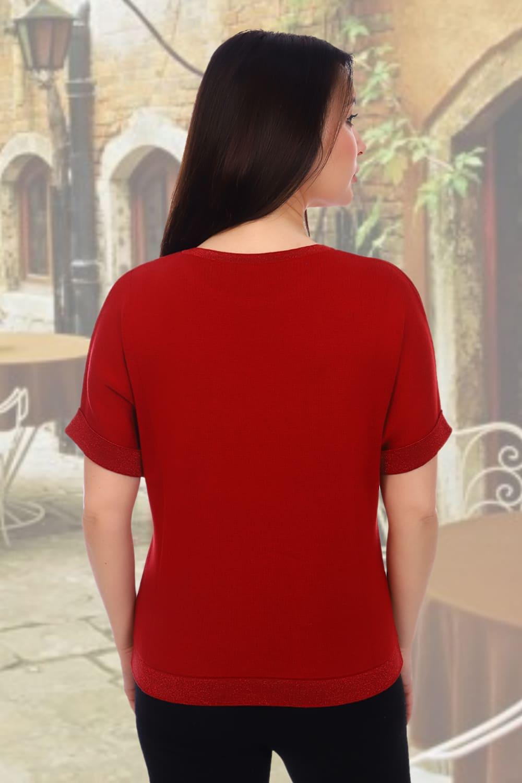 Красный джемпер дамский