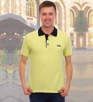 Салатовая футболка-поло Berchelli