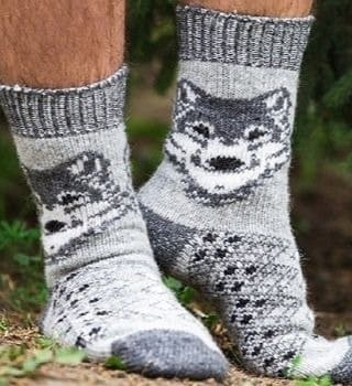 Шерстяные носки мужские N6R76-2